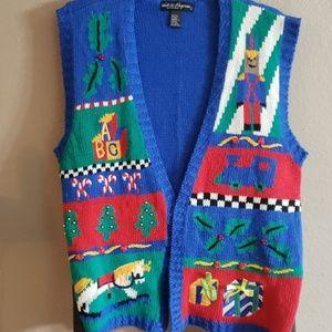 Vintage 80s-90s Christmas Sweater Vest